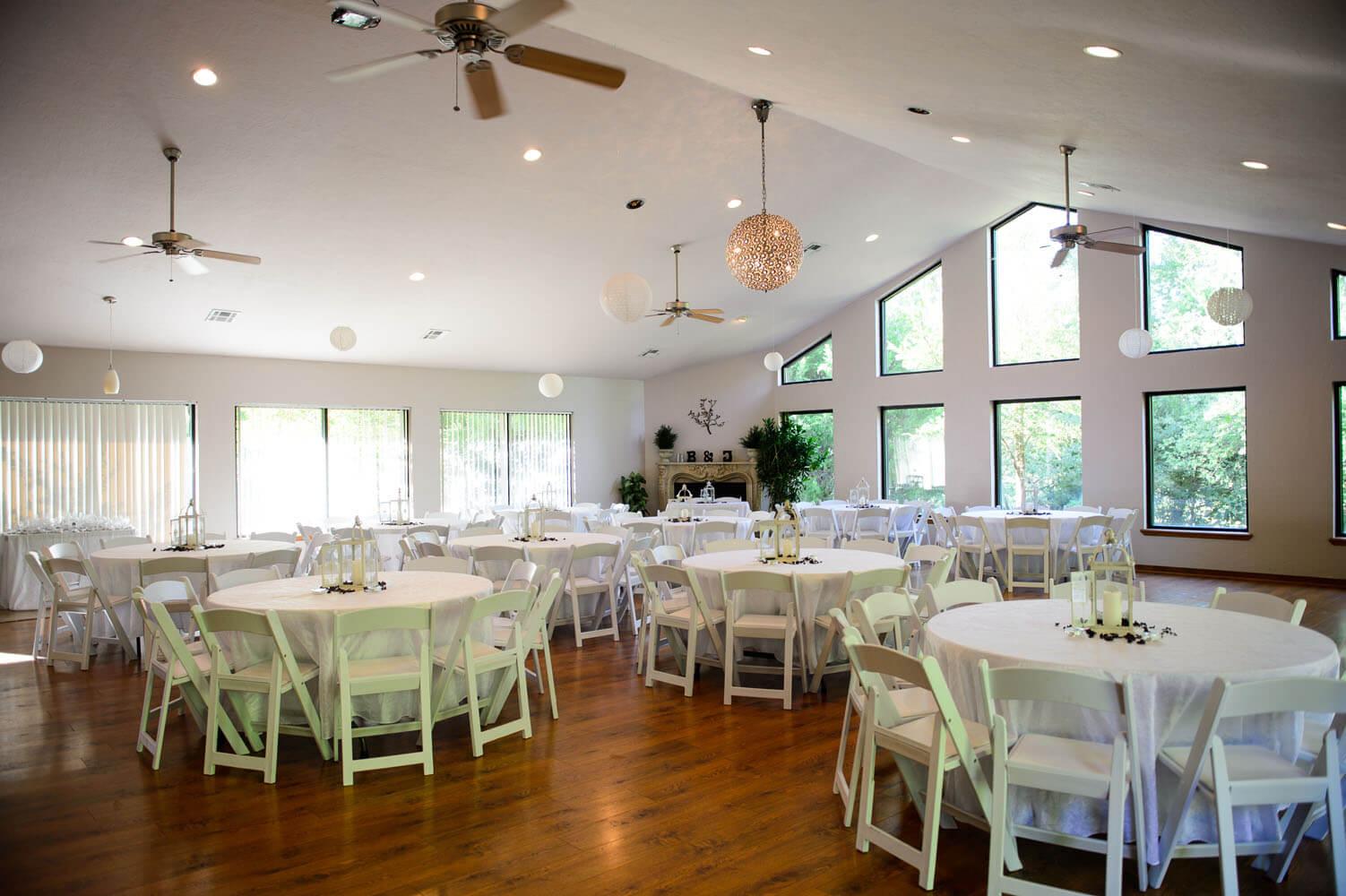 Reception Area At Thunderbird Chapel In Norman Oklahoma Thunderbirdchapel Normanoklahoma Wedding