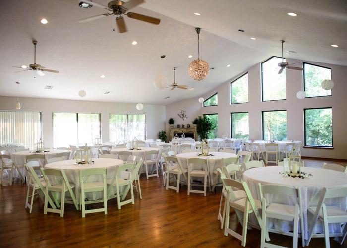 Reception Area At Thunderbird Chapel Thunderbirdchapel Normanoklahoma Wedding