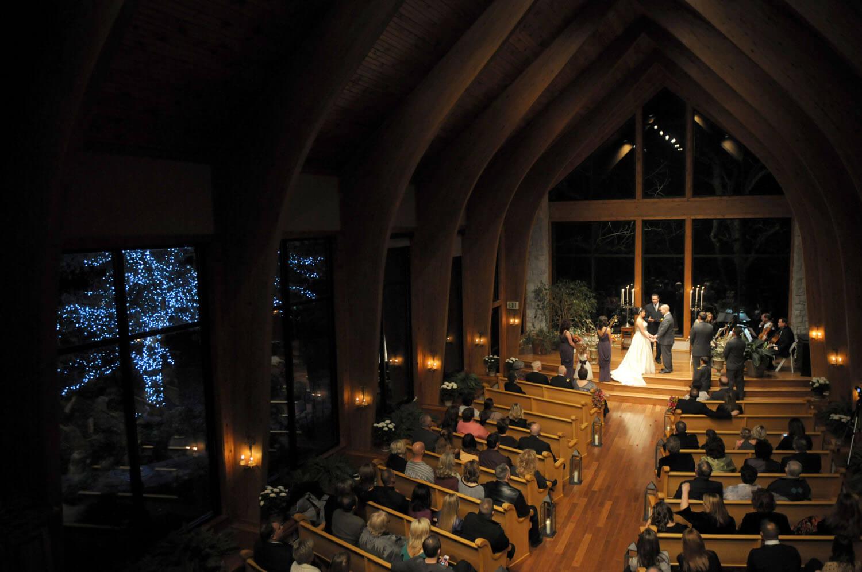 Beautiful Illuminated At Thunderbird Chapel Thunderbirdchapel Normanoklahoma Wedding